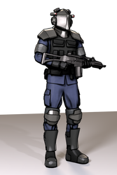 Militarized Police compositor filter experiment