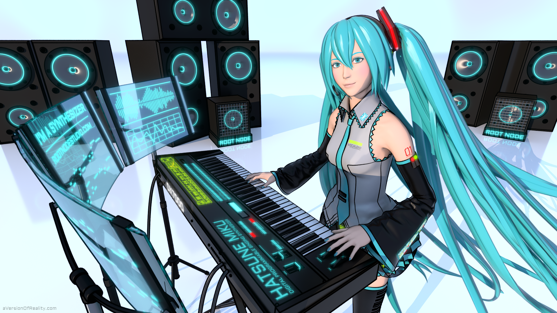 Hatsune Miku: I'm a Synthesizer Cover Art by aVersionOfReality