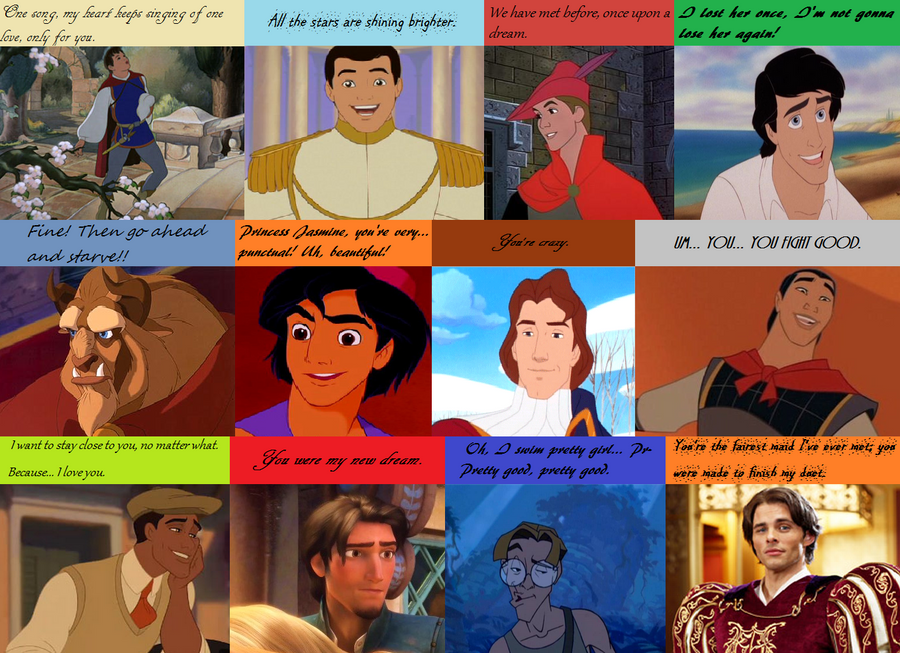 disney prince pickup lines by koolkatkaitlynaatc on