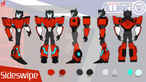 Transformers Alliance   Sideswipe Reference Sheet