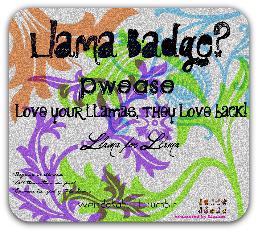 Llama Badges by TaggedTad
