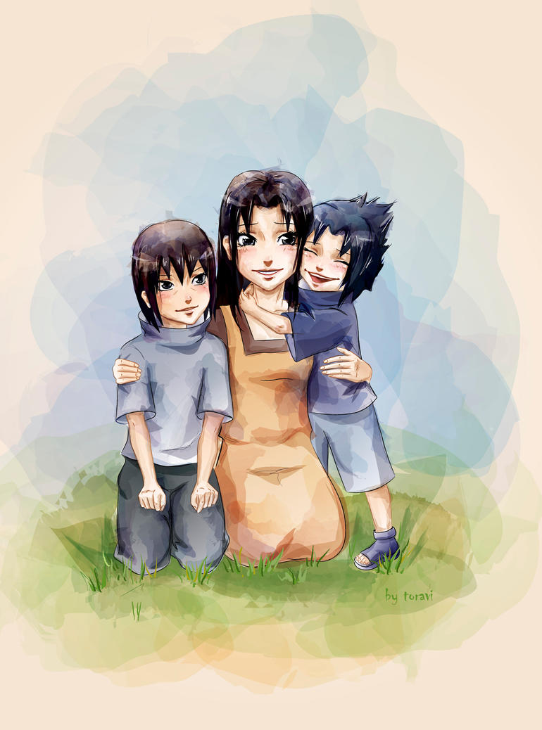 Mikoto and her sons by toravi