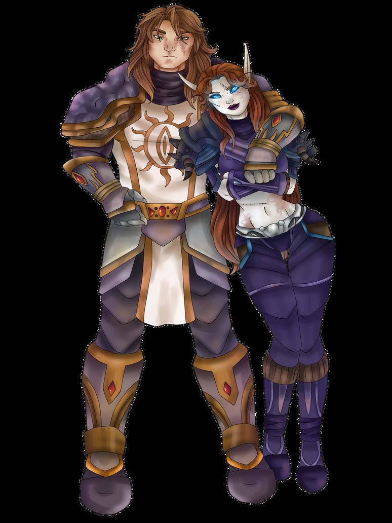 Vaithen and Velhara by OceanPirate