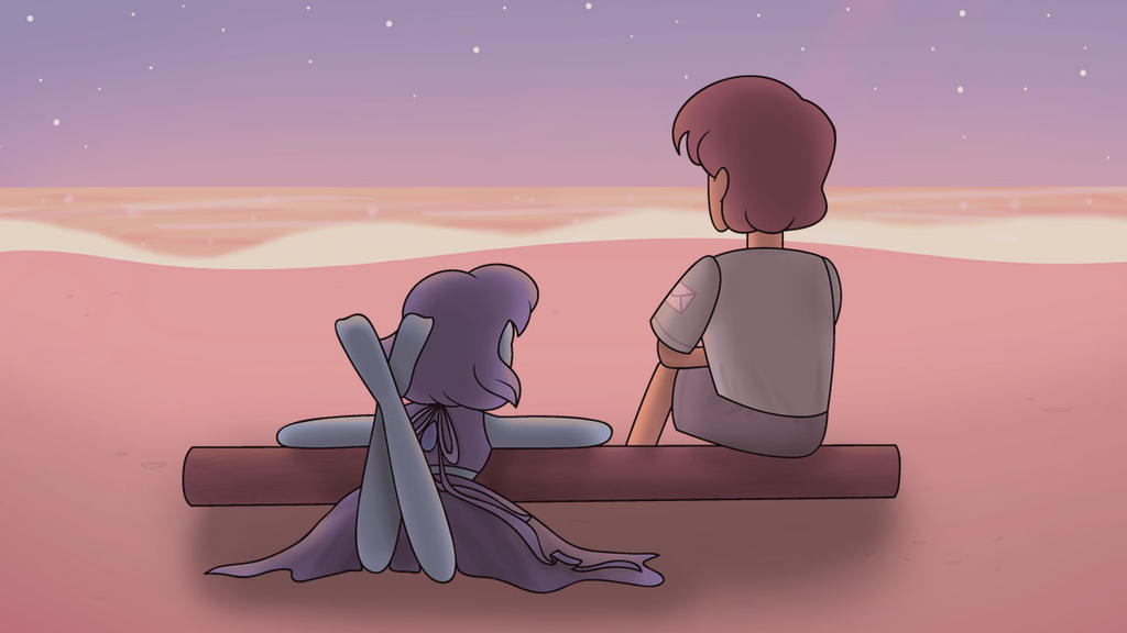 Lapis and Jamie from Steven Universe! I could see them ocean-gazing together. It would give them time to REFLECT on their lives (lol puns).