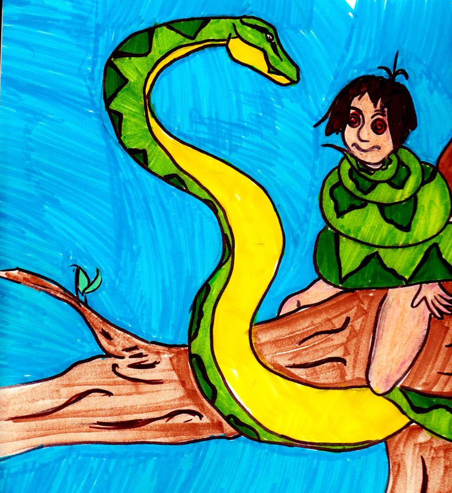 Kaa and Mowgli by libranchylde