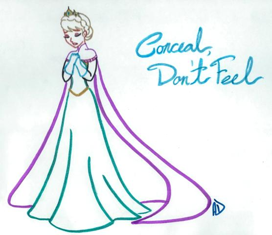 Conceal Don't Feel by missyalissy on DeviantArt
