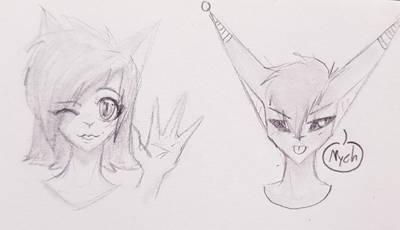 Rika and Dazai by OtakuNeko2499