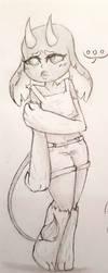 Niamh the shy little earth goblin thing by OtakuNeko2499