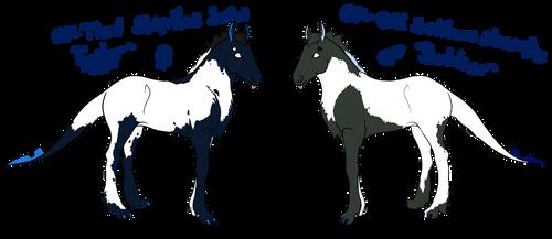 00106 and 00107 Foal designs by OtakuNeko2499