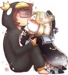 Comm - Akujin Kamiya Forehead Kiss by OtakuNeko2499