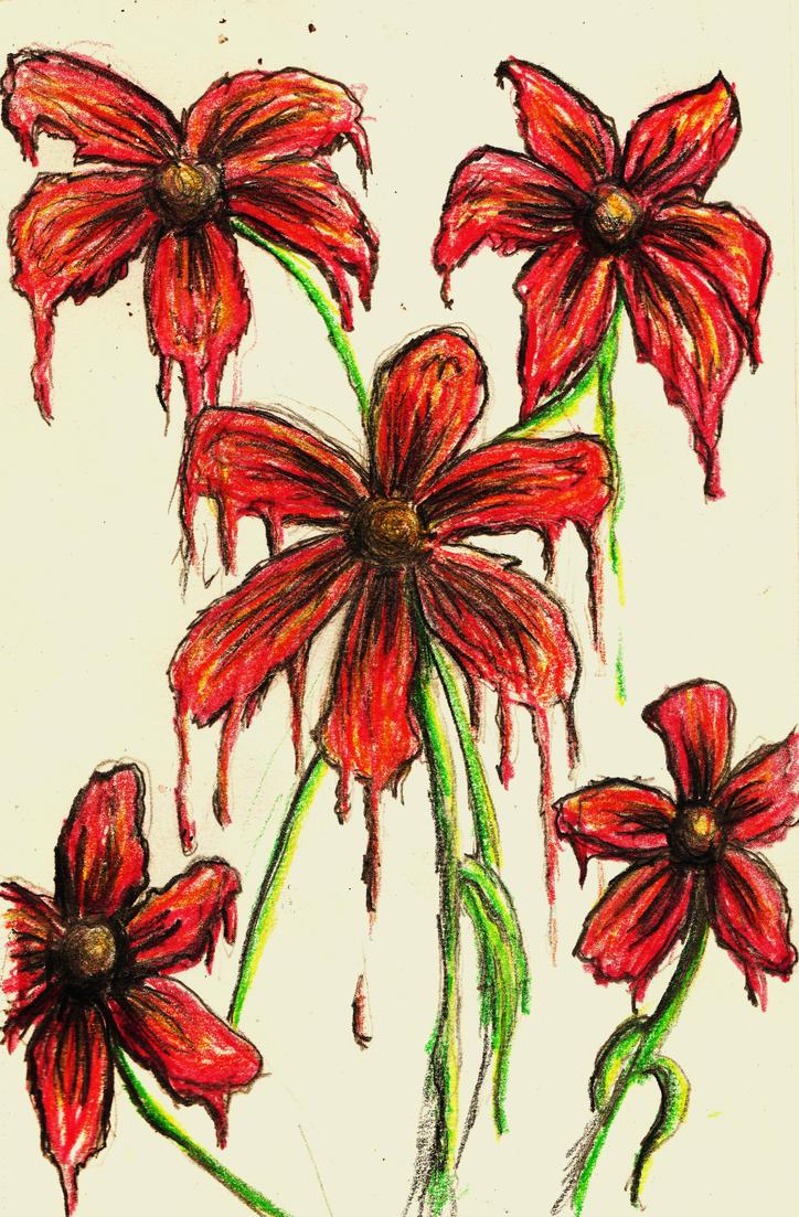Wet Flowers by xCINNx