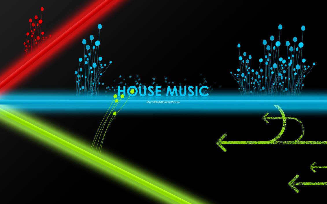 House music wallpaper by h4x0ry0ul34 on deviantart for House music art