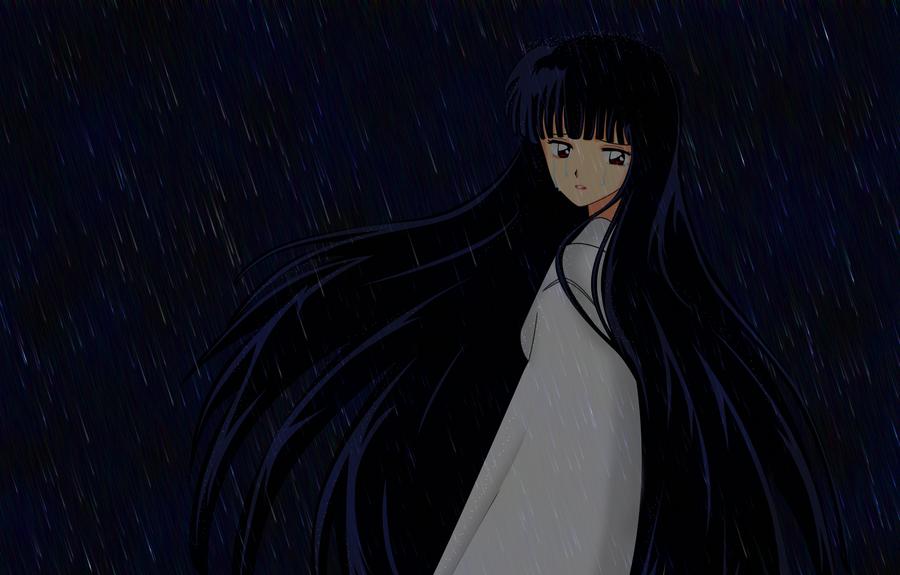 Crying in rain by NIIIGATA