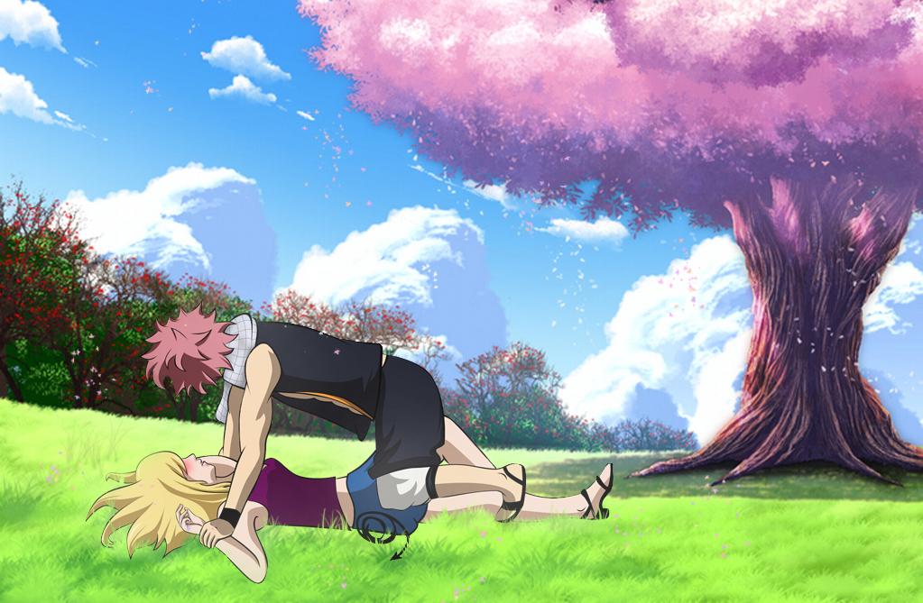Natsu x Lucy - Under Sakura by NIIIGATA