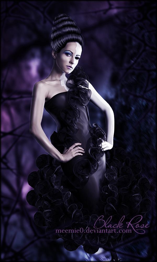 Black Rose by MeemieArt