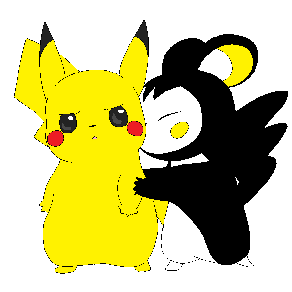 Emolga + Pikachu by luisbonilla on DeviantArt