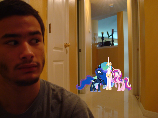 I got three naughty princesses behind me by luisbonilla
