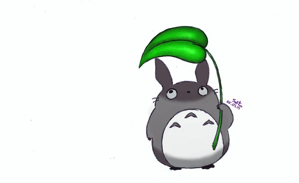 Little Totoro color ver. by Mira-Vegas on DeviantArt