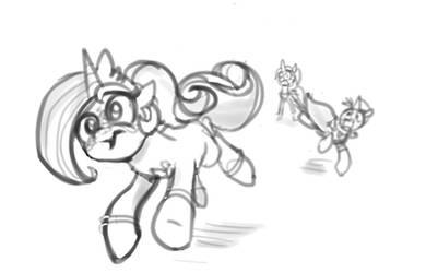 Weekly sketchs #3: Magicorns - Royal escort by Lummh