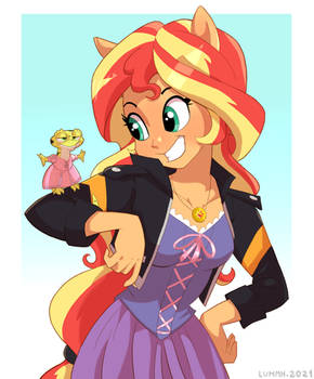 Rapunzel Shimmer and Rayscal