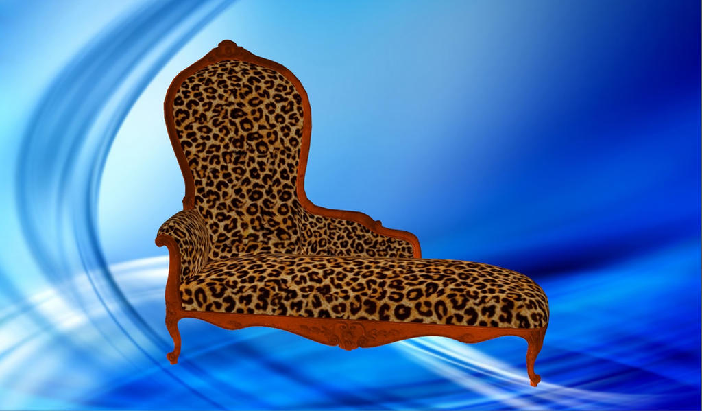 Item chaise longue leopard by agekei on deviantart for Animal print chaise longue
