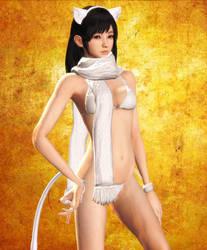 FF5 Miu Hinasaki Bikini Cat by agekei