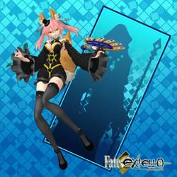 FateEXTELLA Tamamonomae-Jet Black Magic Garb by agekei