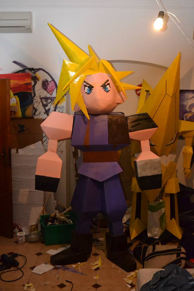 Cloud Strife pixel cosplay [ Start version ] by BleankasBleank