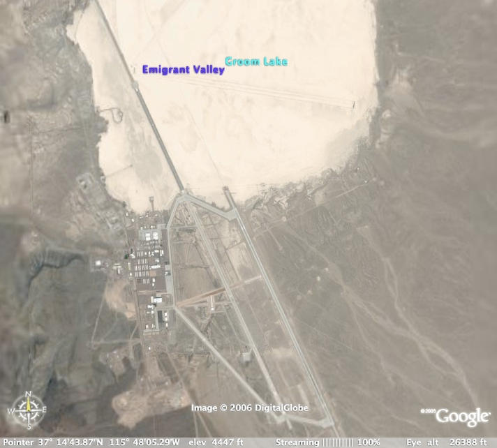 how to find area 51 on google earth