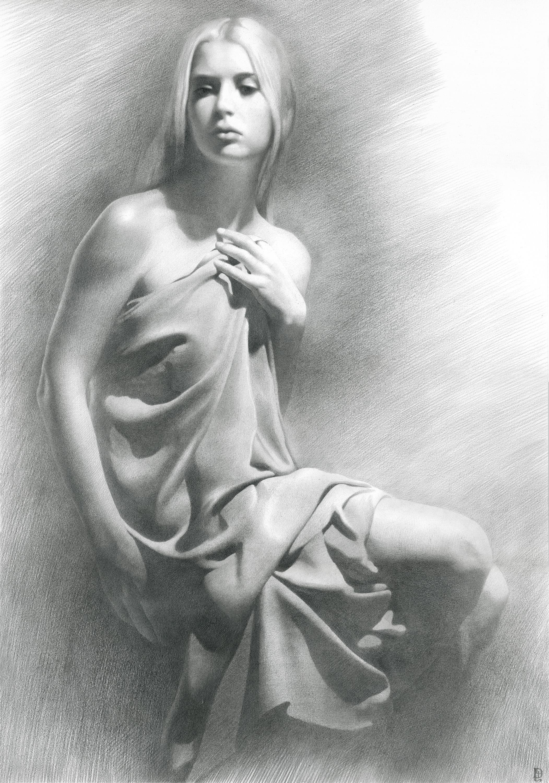COOLRISTA Рисунок Обнаженная девушка  Drawing Nude girl