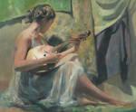 Girl Playing Domra