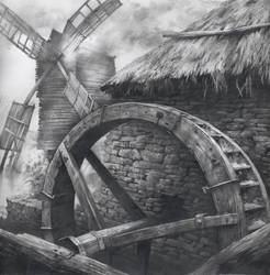 Watermill and Windmill
