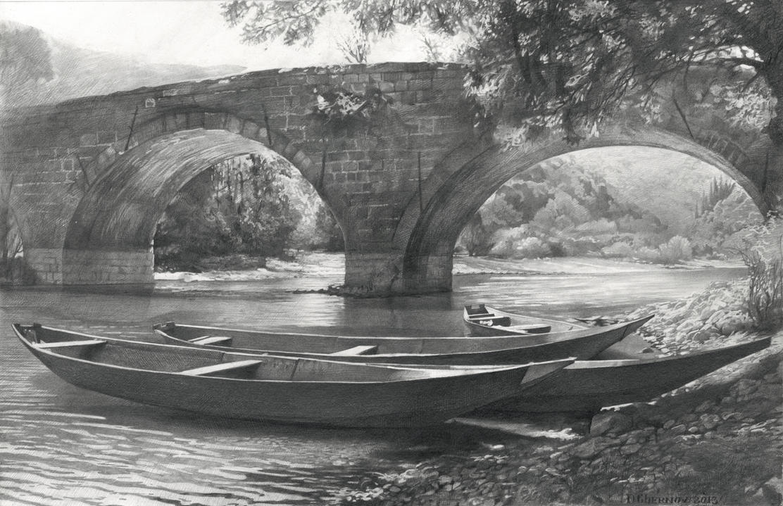 old bridge by dchernov on deviantart
