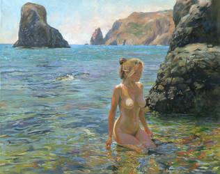 Sun, Sea, Girl by DChernov