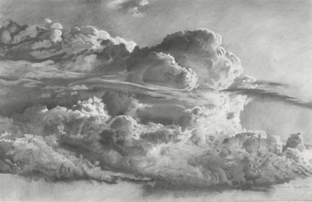 2020 Clouds 36x56cm pencil on paper