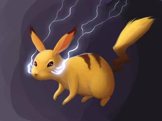 Pikachu Doodle by Neanderthal-Jam