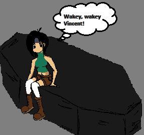 Yuffie Annoys Vincent