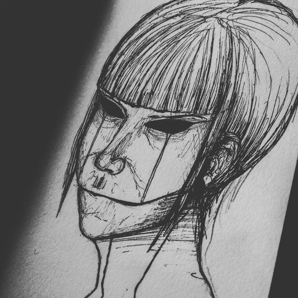 Sketch #3 Darkness by YochanArt