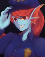 Policewoman Undyne by MeriMint