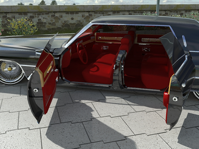 74 Cadillac DeVille Brougham custom Lowrider by eNovation on