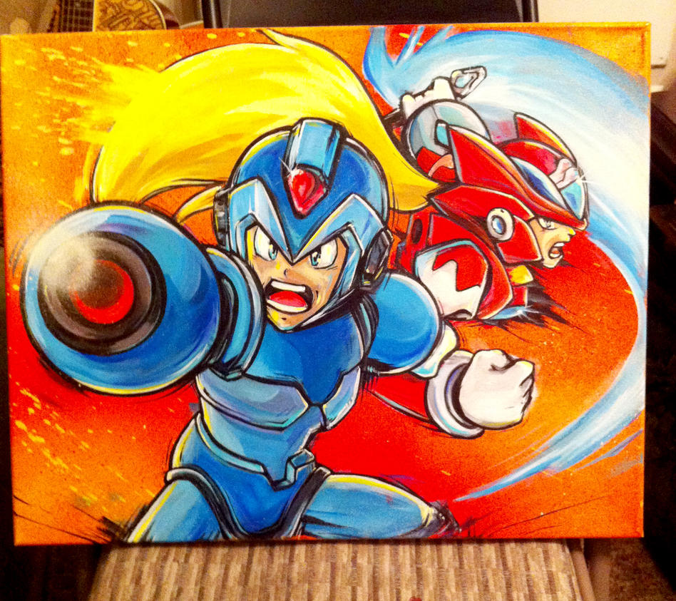 megaman and zero by Lopan4000