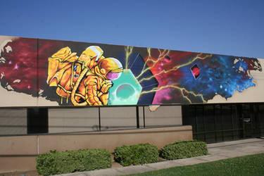Space Man mural