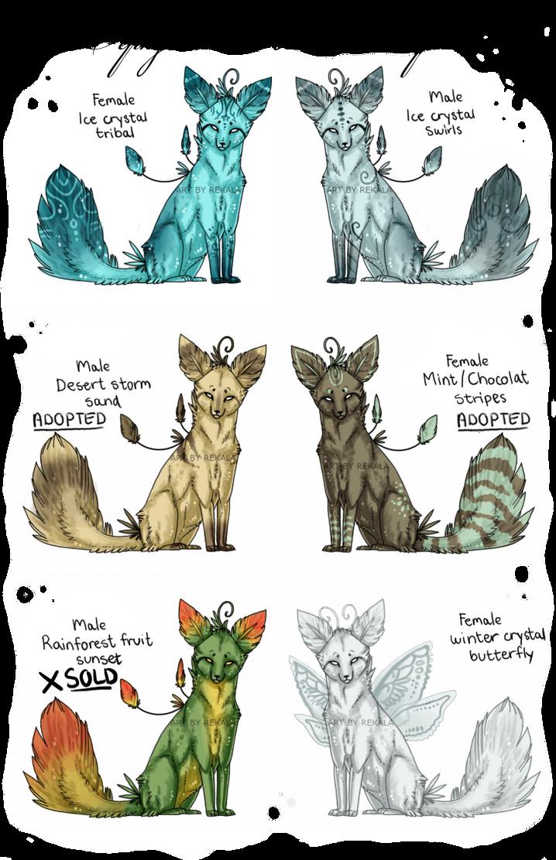 Xephyrian Fox Adoptables by RekalaRain