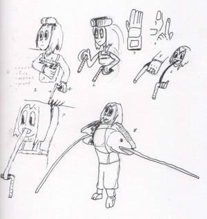 Tsuyu with her tongue using a ninja weapon