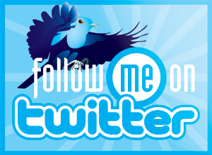 twitter 'Follow Me' Badge by WinfrithGraphics