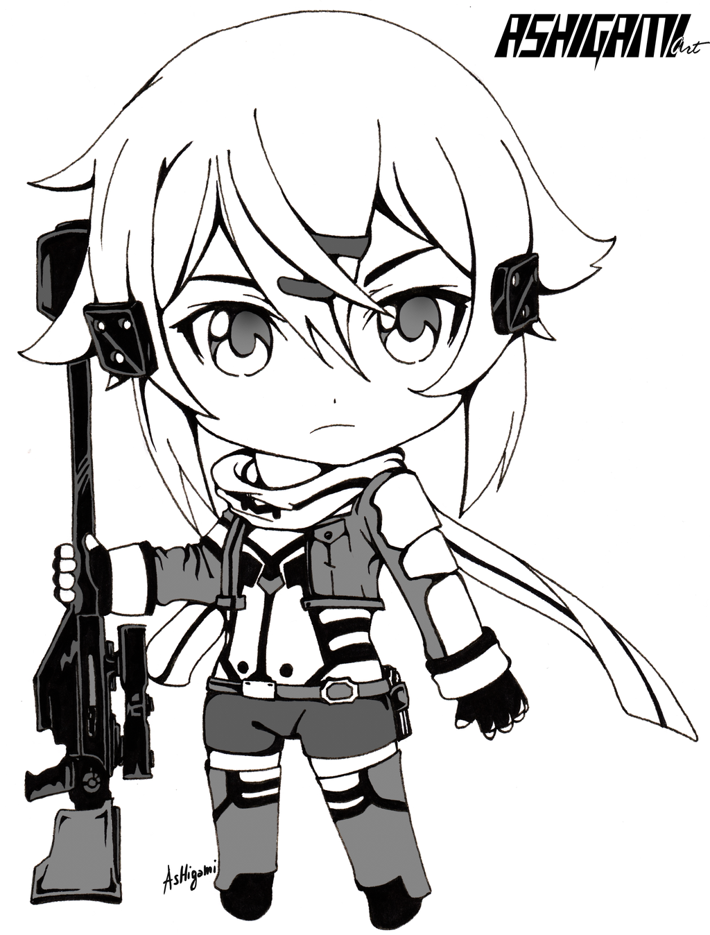 Sinon Chibi Sword Art Online Ii By Ashigami On Deviantart