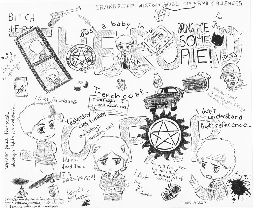 Supernatural Doodles by darksquishy