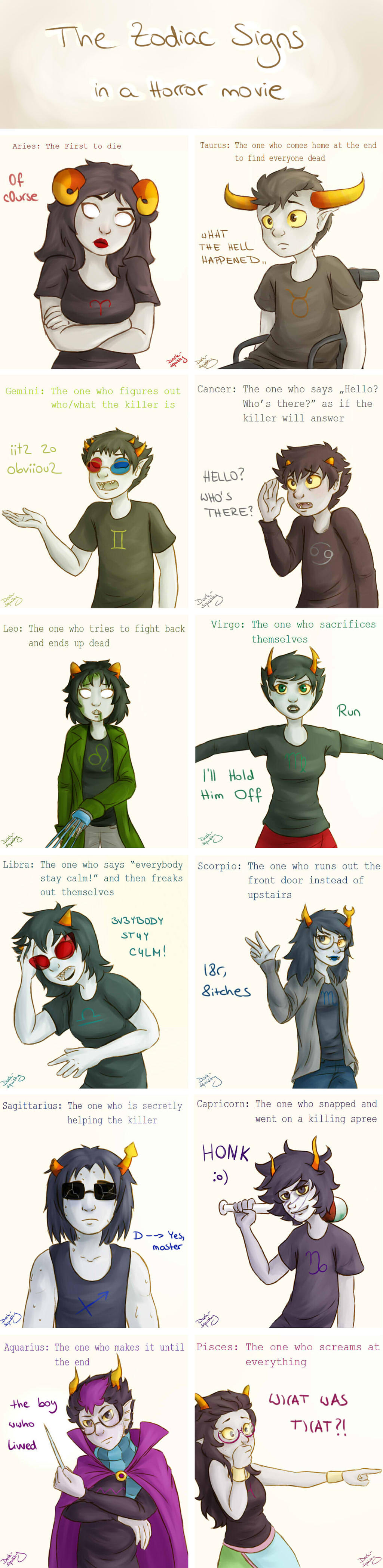 Nepeta And Eridan The Zodiac signs in a ...