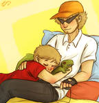 Cuddling Striders
