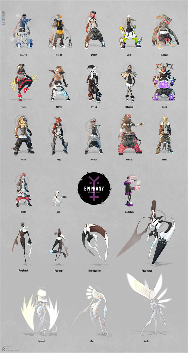 Epiphany: complete collection of characters by Florian-K